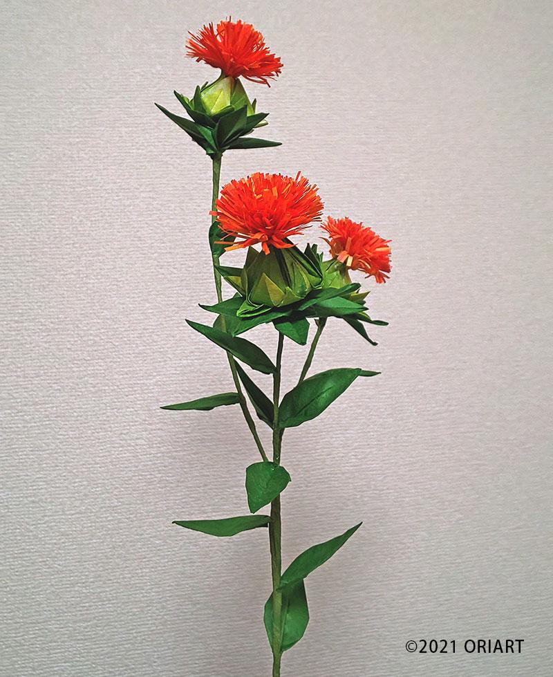立体おりがみ「紅花」