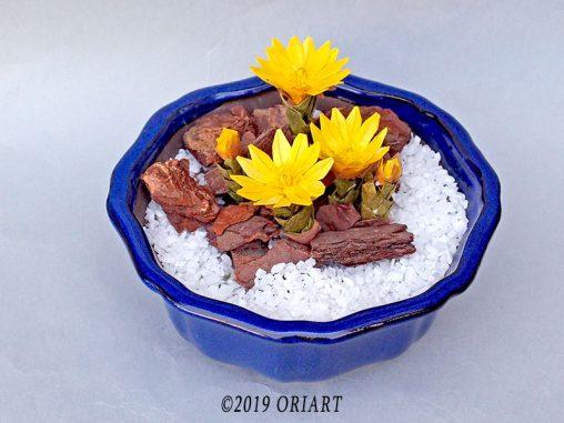 お花の立体おりがみ「福寿草」