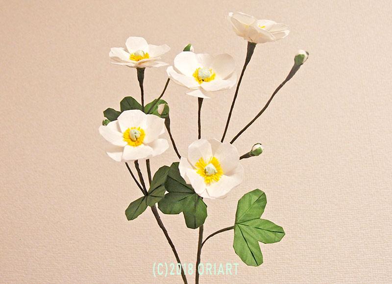おりがみ立体お花作品「秋明菊」
