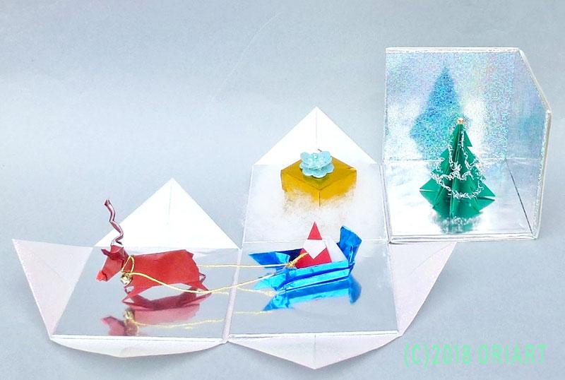 おりがみ立体作品「クリスマスボックス」