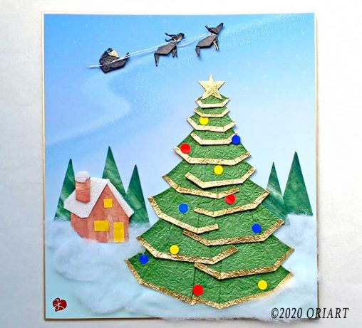 折り紙「クリスマスの夜」
