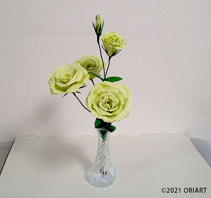 お花折り紙「トルコキキョウ」
