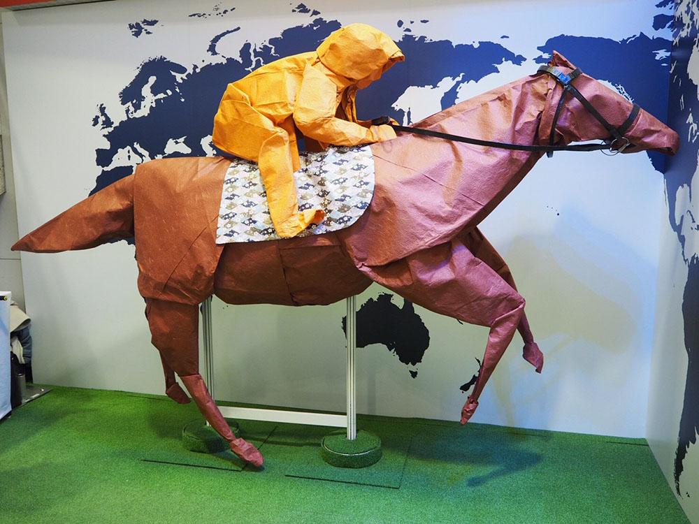 JRA日本中央競馬会イベント展示おりがみ作品