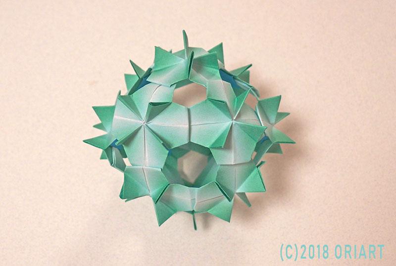 おりがみ立体インテリア「ユニット折り紙」