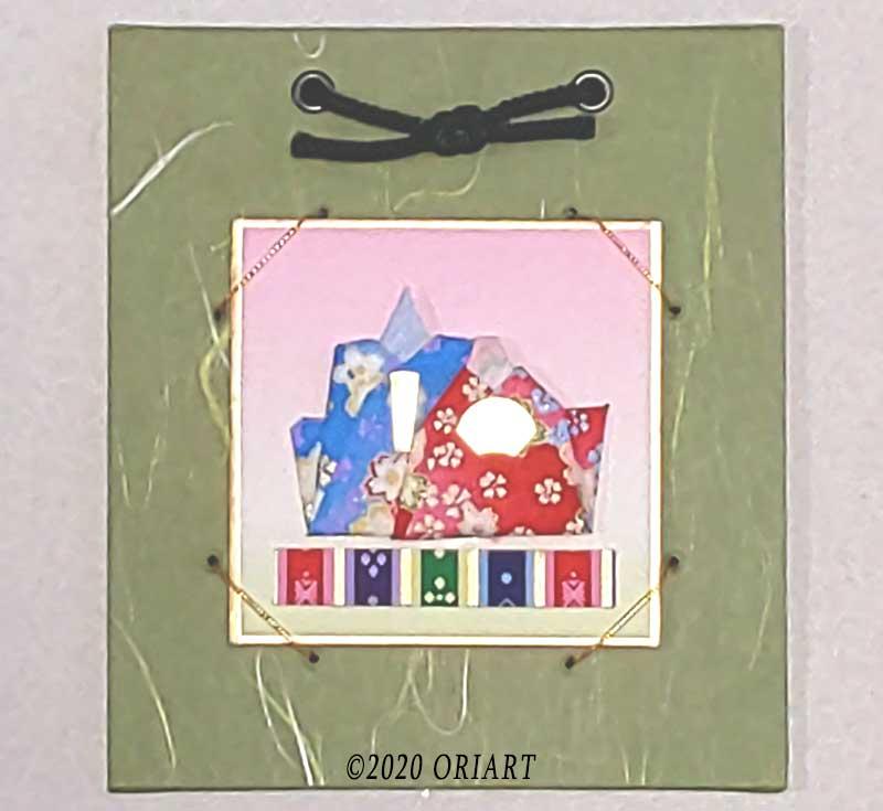 折り紙作品「おひなさま」