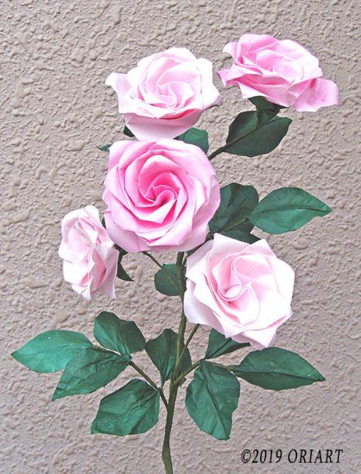 折り紙立体花作品「バラ」