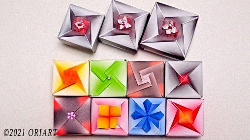 折り紙かんたん小箱の作り方