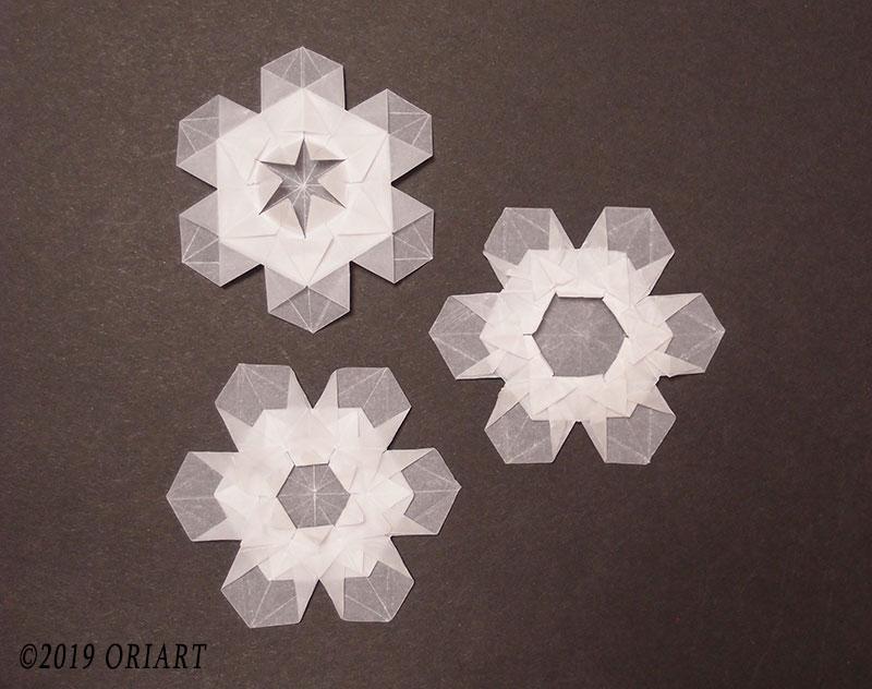 おりがみ作品「雪の結晶」